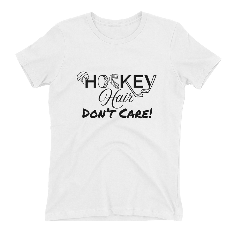 Hockey Hair Don't Care Women's T-Shirt