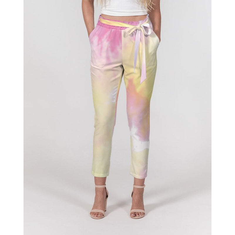Women's tie dye tapered pants