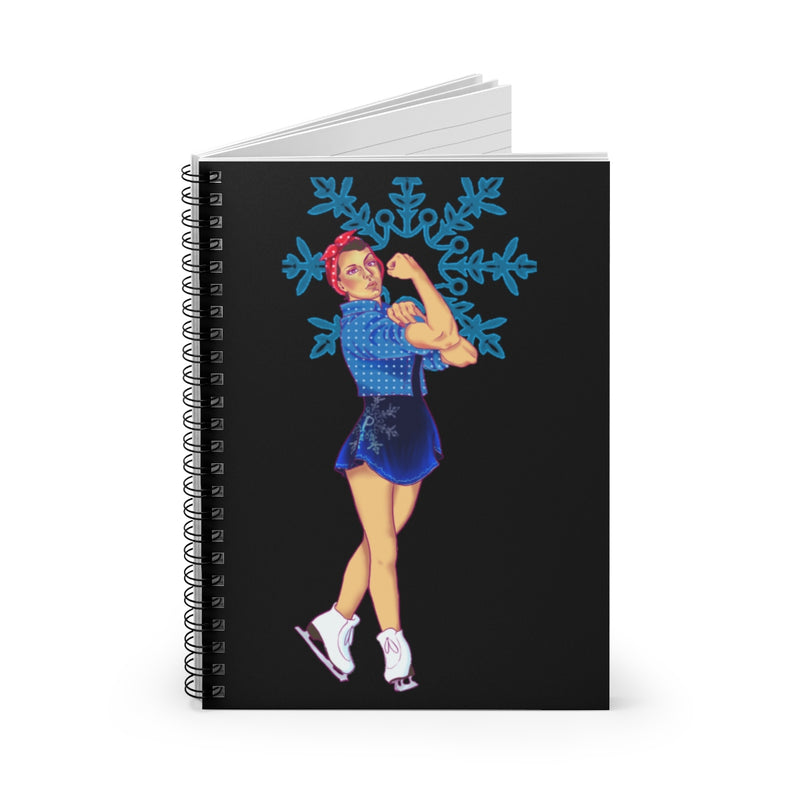Pinkskate Rosie The Riveter Spiral Notebook