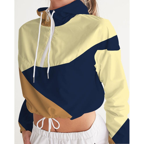 Color Block Cropped Windbreaker