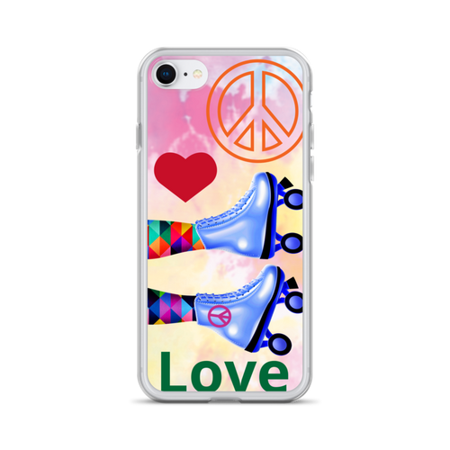 Peace Love and Skate iPhone Case