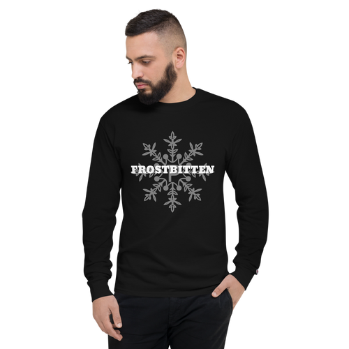 Frostbitten long sleeve tee in black