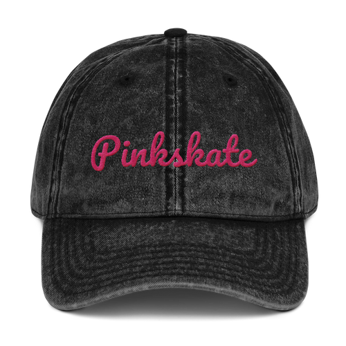 The Vintage Pinkskate Ball  Cap
