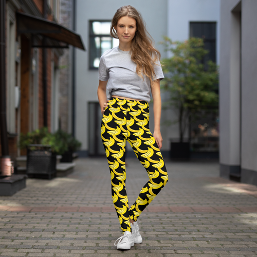 Banana print leggings