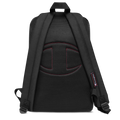 Black Logo Embroidered Backpack