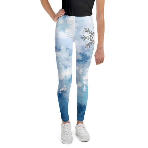 Girl's Performance Blue  Leggings