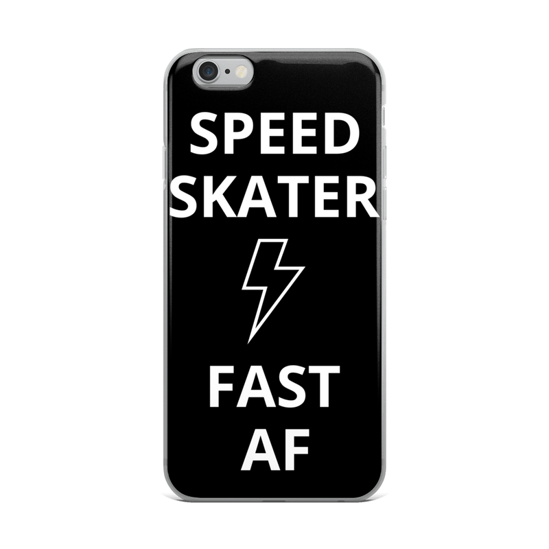 Speed Skater Fast iPhone Case