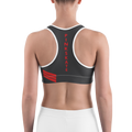 Red Accent Level Up Sports Bra