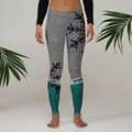 Black Snowflake Leggings