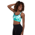 Love Me In Turquoise Sports Bra