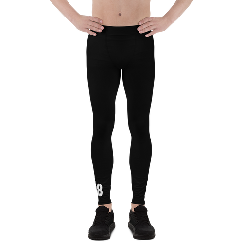 Men's Black Skater Leggings