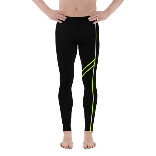Men's Power Leggings Green Accent