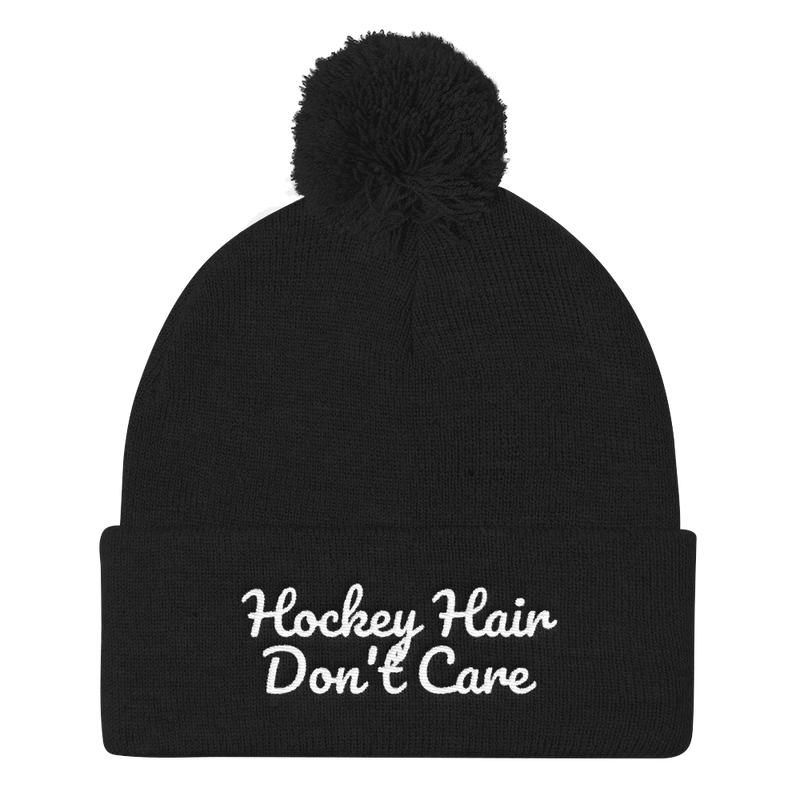 Hockey Hair Don't Care Beanie Cap