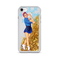 Rosie The Riveter Liquid Glitter Phone Case