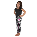 Zebra Print Leggings With Pink Accent