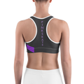 Purple Accent Level Up Sports Bra