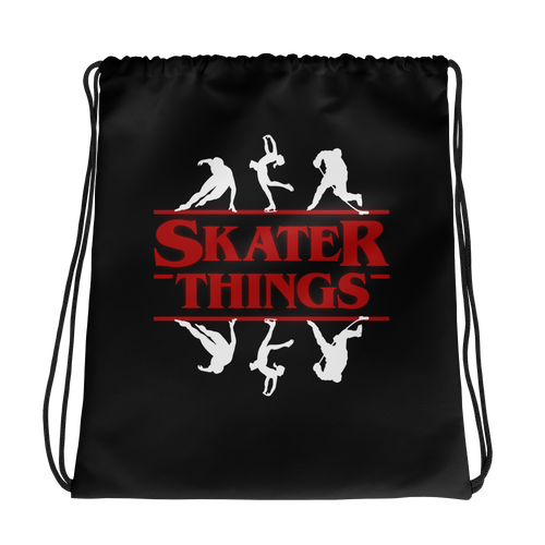 Skater Things Drawstring Bag