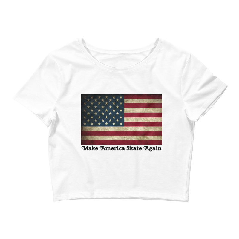 American Flag Crop Top