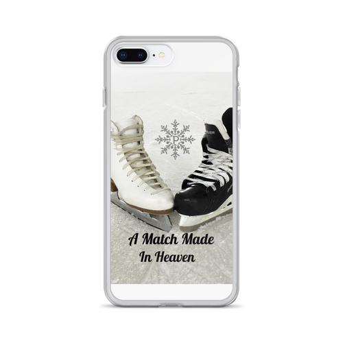 figure skate and hockey skate cell phone case