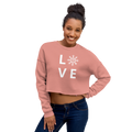 Love Figure Skater Crop Sweatshirt