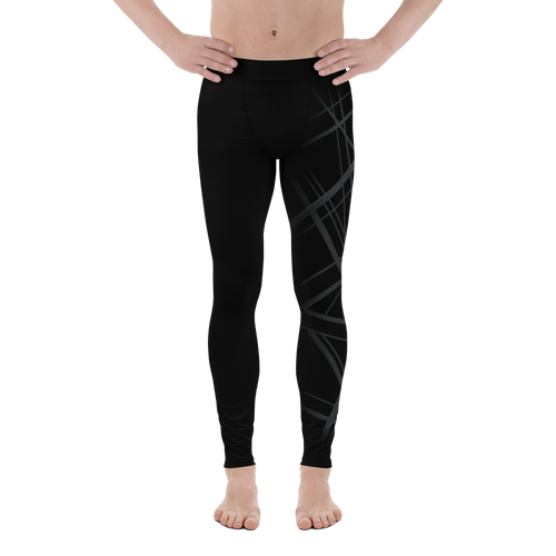 Men's Black Asymmetric Leggings