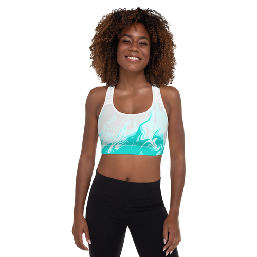 Teal Tundra Sports Bra