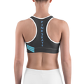 Teal Blue Level Up Sports Bra