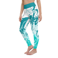 turquoise and caicos patterned leggings