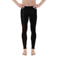 Men's Power Leggings Red Accent