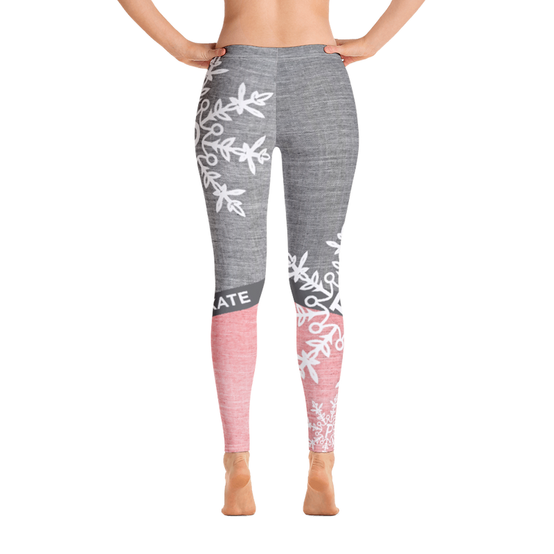 White Snowflake Leggings
