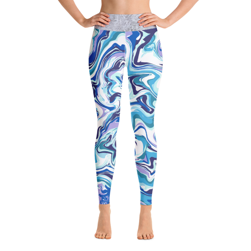 Blue Marbled Leggings