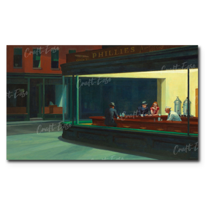 """Nighthawks"" Paint By Numbers Craft-Ease™ - The Classics (30 x 50 cm)"