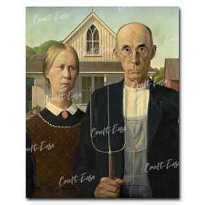 """American Gothic"" Paint By Numbers Craft-Ease™ - The Classics (50 x 40 cm)"