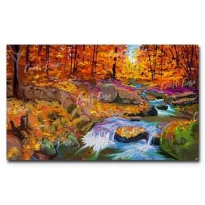 """River in Forest"" Paint By Numbers Craft-Ease™ - Exclusive Series (30 x 50 cm)"