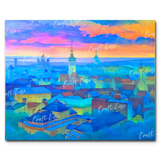 """Old Tallinn City"" Paint By Numbers Craft-Ease™ - Exclusive Series (40 x 50 cm)"