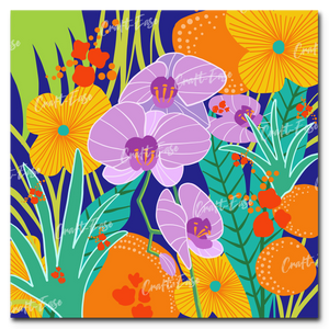 """Orchid Fantasy"" Paint By Numbers Craft-Ease™ - Exclusive Series (40 x 40 cm)"