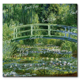 """Water Lilies and Japanese Bridge"" Paint By Numbers Craft-Ease™ - The Classics (40 x 40 cm)"
