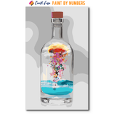 """Bottle with Iceberg"" Paint By Numbers Craft-Ease™ - Exclusive Series (50 x 30 cm)"