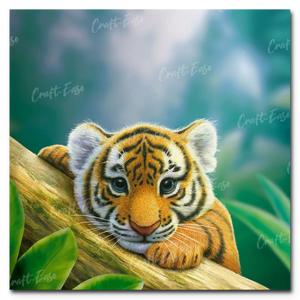 """Budding Beast"" Paint By Numbers Craft-Ease™ - Exclusive Series (40 x 40 cm)"
