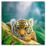 """Budding Beast"" Paint By Numbers Craft-Ease™ - Exclusive Series (40 x 40 cm) - Craft-Ease"