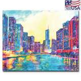 """Chicago River"" Paint By Numbers Craft-Ease™ - Exclusive Series (40 x 50 cm)"