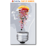 """Electric Jellyfish Light Bulb"" Paint By Numbers Craft-Ease™ - Exclusive Series (50 x 30 cm)"