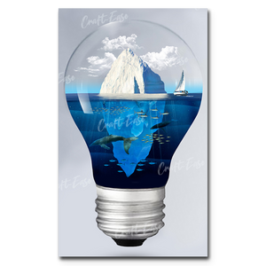 """Iceberg in Light"" Paint By Numbers Craft-Ease™ - Exclusive Series (50 x 30 cm)"