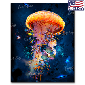 """Jellyfish Galaxy"" Paint By Numbers Craft-Ease™ - Exclusive Series (50 x 40 cm) - US Shipping"