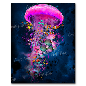 """Jellyfish Ride Summer Flat Twenty-Seventeen"" Paint By Numbers Craft-Ease™ - Exclusive Series (50 x 40 cm)"
