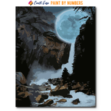 """Moonlight Falls"" Paint By Numbers Craft-Ease™ - Exclusive Series (50 x 40 cm)"