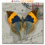 """My Travels Butterfly Orange Blue Brown"" Paint By Numbers Craft-Ease™ - Exclusive Series (40 x 40 cm)"