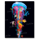 """New Jellyfish Big Fish"" Paint By Numbers Craft-Ease™ - Exclusive Series (50 x 40 cm)"