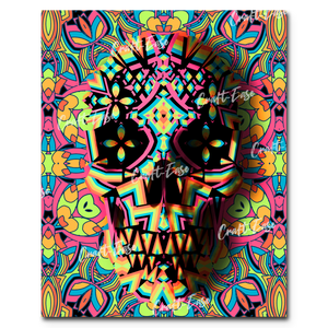 """Skull Geo Two"" Paint By Numbers Craft-Ease™ - Exclusive Series (50 x 40 cm)"