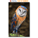 """Cute Owl"" Paint By Numbers Craft-Ease™ - Exclusive Series (50 x 30 cm)"